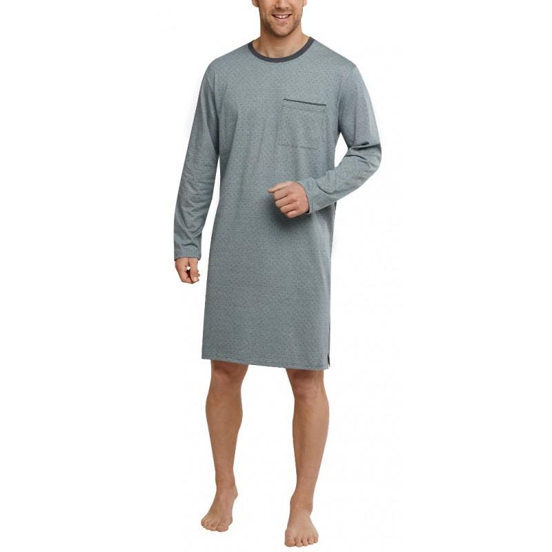 Schiesser męska koszula nocna z długim rękawem  ENLED